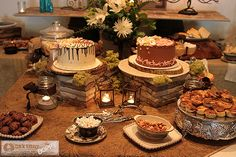 Rustic Wedding Food Ideas | rustic elegant wedding shower table decor i used the stacked stones as ...