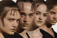 Pat McGrath's gold lips at Prada may or may not be an exclusive new pigment coming from the iconic artist.