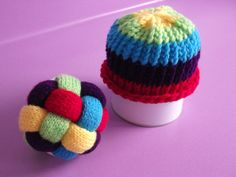 Loom Knitted Baby Hat & Weave-a-ball matching set... such fun!!!