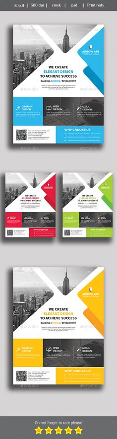 Elegant Business Flyer Business flyers, Psd templates and Business - web flyer