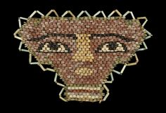 Egyptian Beaded Mummy Face Mask - May 2015 First Humans, Ancient Egypt, Archaeology, Timeline, Egyptian, United Kingdom, Monsters, Beading, Auction