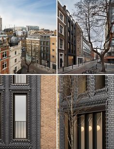 Architecture firm Bureau de Change, has recently completed a building in London that features an interlocking brick facade made from blocks. British Architecture, Amazing Architecture, London Brick, Materials And Structures, Interlocking Bricks, Timber Kitchen, Brick Facade, Sombre, Property Development