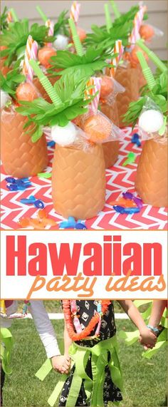 Hula Girl Party Ideas.  Hawaiian themed ideas for a girl birthday party.  Quick and easy DIY grass skirts and party favors. Picture perfect party ideas for your next Luau.