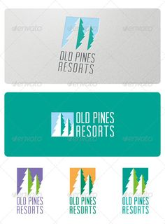 Old Pines Resorts Logo  #GraphicRiver         Old Pines Resorts Logo is a logo perfect for mountain resorts and hotels, outdoor related companies, traveling, adventure and many other business related to nature.