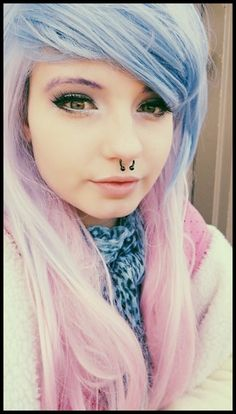 This girl is beautiful!! I want her hair and her septum piercing!!!