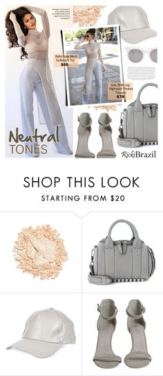 """""""Neutral Tones"""" by noviii ❤ liked on Polyvore featuring Urban Decay, Alexander Wang, River Island, Alexander McQueen, Envi and rickibrazil"""