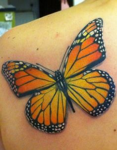 Monarch coloring match for tattoo