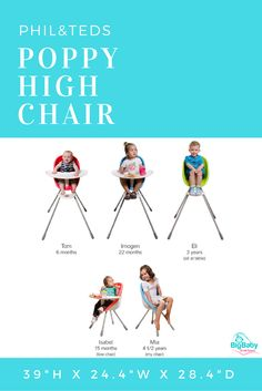 Merveilleux Meet Philu0026teds Poppy High Chair. A Super Cute, Great Value, Compact High  Chair
