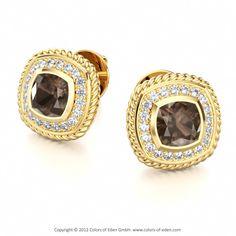 Smoky Quartz Earrings #gold #earrings