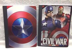Wide Ruled Composition Notebook Captain America Civil War 100 sheet Quantity 2  #Unbranded