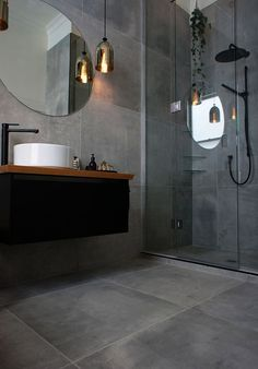 Best small bathroom designs bathroom design ideas with grey tiles best small bathroom tiles ideas on city style small bathrooms small bathroom remodel with Small Bathroom Tiles, Modern Bathroom Design, Bathroom Interior Design, Kitchen Tiles, Bathroom Designs, The Block Bathroom, Bathroom Ideas, Funky Bathroom, Small Grey Bathrooms
