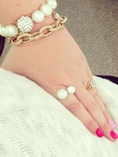 Pearls & Gold Chains
