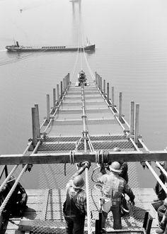 Mackinac Bridge Construction, 1955