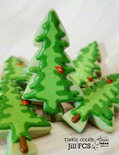 Jill FCS:  a cardinal in a fir tree.  Christmas.  Birds.  Trees.