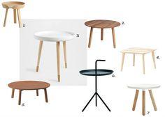 Scandinavian side tables