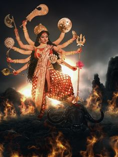 Maa Durga Image, Durga Kali, Saraswati Goddess, Kali Goddess, Shiva Shakti, Goddess Art, Mother Kali, Divine Mother, Durga Puja Wallpaper