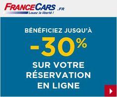 Location de voitures France Cars : jusqu'à -30% sur la réservation en ligne + 10 euros offerts via un code promo