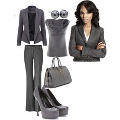 """""""Olivia Pope fifty shades of fashion"""" by tiv711 on Polyvore"""