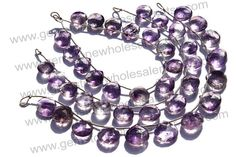 Moos Amethyst Faceted Heart Quality AA / 18 by GemstoneWholesaler, $56.16
