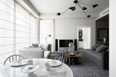 Stylowe mieszkanie w Milanie, salon - Wnętrze - Zainspiruj się z Foorni.pl