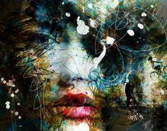 """Saatchi Art Artist yossi kotler; Painting, """"patch of love 2"""" #art"""