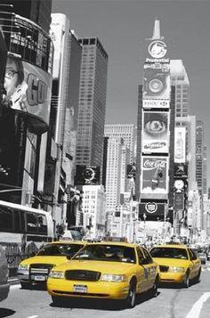 Ville de New York Papier Peint Noir blanc taxi jaune photographie Twin Liberty Bridge