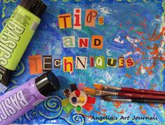 Welcome to Tuesday Tips and Techniques! I hope you find the information useful in your own creative journey! TUESDAY TIPS and TECHN. Art Journal Prompts, Art Journals, Journal Ideas, Photo Album Scrapbooking, Creative Journal, Scrapbook Embellishments, Book Projects, Art Journal Inspiration, Smash Book