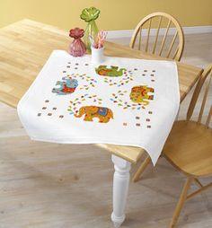 Duftin, Decke Farbenfrohe Elefanten, 357947 Vanity Bench, Baby, Furniture, Home Decor, Hardanger, Elephants, Decoration Home, Room Decor, Home Furnishings