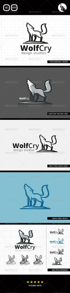Cry Wolf Logo Design LOGO BY FLIPSIDE  Professionally designed unique logo  Fully editable with eps & ai formats  CMYK print ready