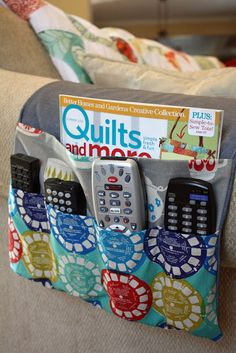 8 Easy Sewing Hacks Every Crafty Person Should Know - Abundator Easy Sewing Projects, Sewing Projects For Beginners, Sewing Hacks, Sewing Tutorials, Sewing Crafts, Sewing Patterns, Remote Control Holder, Remote Caddy, Learn To Sew