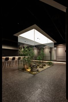 """""""The Korean beef meal on the table"""" interior Interior Garden, Cafe Interior, Office Interior Design, Modern Architecture House, Space Architecture, Commercial Interiors, Commercial Interior Design, Sky Design, House Design"""