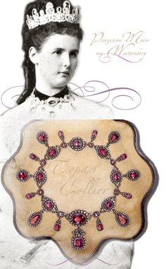Wuerttemberg Royal Pink Topaz Parure | Tiara/Necklace/Bracelets/Stomacher/Brooch