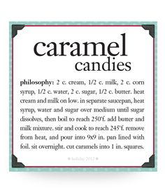caramel candies #recipe #philosophy #holiday