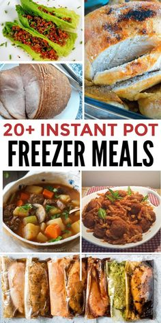 20 Instant Pot Freezer Meal recipes (plus resources for dozens more) that a. - -Over 20 Instant Pot Freezer Meal recipes (plus resources for dozens more) that a. Paleo Freezer Meals, Chicken Freezer Meals, Dump Meals, Freezer Cooking, Easy Meals, Cooking Time, Instant Pot Pressure Cooker, Pressure Cooker Recipes, Meal Recipes