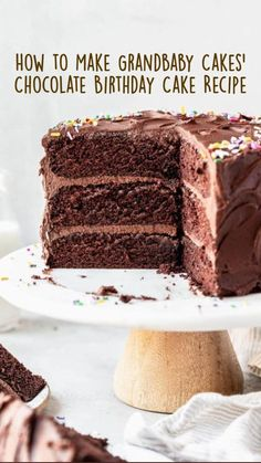 Homemade Chocolate Frosting, Amazing Chocolate Cake Recipe, Decadent Chocolate Cake, Best Chocolate Cake, Chocolate Birthday Cake Kids, Chocolate Lovers, Chocolate Mouse Cake, Chocolate Cake With Coffee, Chocolate Party