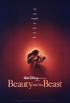 Original poster from the theatrical release of Beauty and the Beast in 1991.