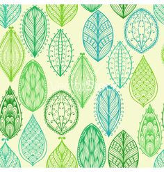Seamless hand drawn vintage pattern vector by tairen on VectorStock®