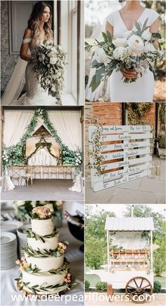 rustic greenery wedding ceremony shade and interior decoration strategies marriages greenwedding weddingideas wedding ceremony deerpearlflowers Cheap Wedding Decorations, Wedding Themes, Wedding Colors, Wedding Ideas, Wedding Flowers, Perfect Wedding, Dream Wedding, Light Wedding, Wedding Planner Checklist