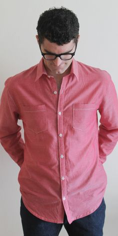 sewing for men: chambray buttondown || imagine gnats