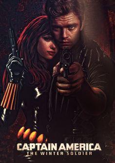 Winter Soldier and Black Widow by ~tomzj1 on deviantART