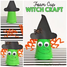 foam-cup-witch-craft-for-kids