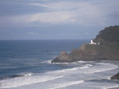 Heceta Head lighthouse, near Florence, Oregon (not Agate Beach, as previously written)
