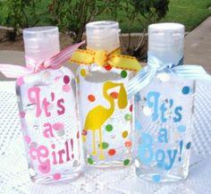 vinyl on hand sanitizer for baby boy/girl announcment