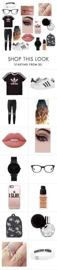 """""""School :P"""" by benhemmings on Polyvore featuring adidas Originals, adidas, AMIRI, Lime Crime, Concrete Minerals, CLUSE, Ray-Ban, Casetify, Givenchy and Vans"""