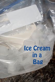 Ice Cream in a bag--Changes in matter, describing words, how-to writing...so many ideas that I could use this with!