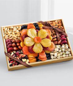 Flowering Gourmet Kosher Dried Fruit & Nut Tray - Large