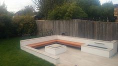 New seat area now need  to landscape....