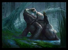 The Frog by on DeviantArt Epic 2, Cool Monsters, Pen And Paper, Phan, Fantasy Art, Concept Art, Lion Sculpture, Character Design, Creatures