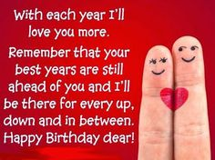 Happy Birthday quotes for husband, wife, boyfriend or girlfriend