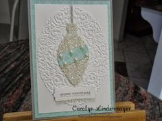 Carolyn's Card Creations: Clean and Simple Christmas - Holiday Frame Ornament cards - Smoky Slate